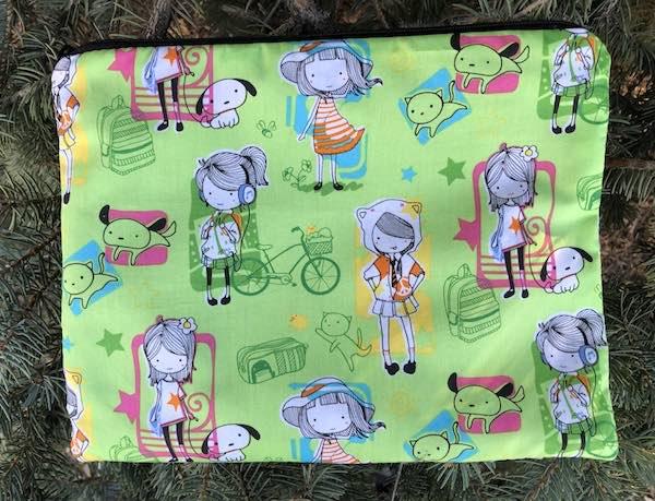 City Girls Supa Scribe extra large pencil case or makeup bag