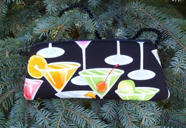 Cocktails Bebe Clutch Wristlet Shoulder Bag-CLEARANCE