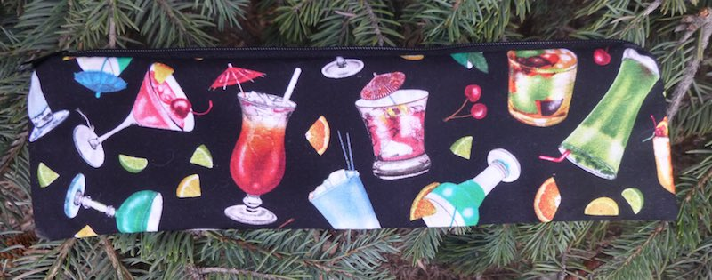 Case to carry paper or reusable straws, The Strawz, Cocktails