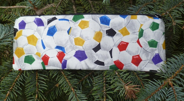 Colorful soccer balls pen and pencil case, The Scribe