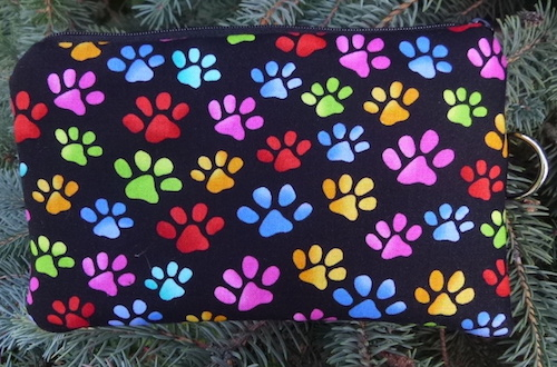 Colorful Paws Mini Wallet Purse Organizer, The Sweet Pea
