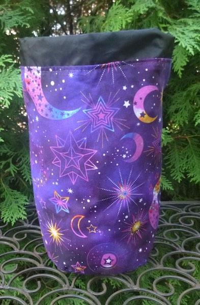Cosmic Universe SueBee Round Drawstring Bag