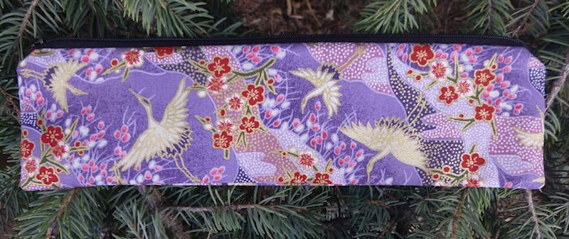 Crane Landscape, case to carry paper or reusable straws, The Strawz