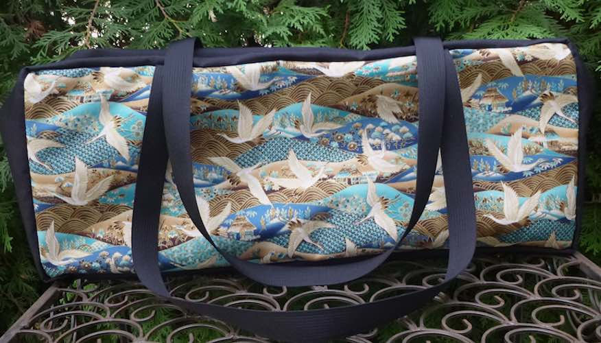 Cranes and Waves Mahjongg Storage Set The Zippered Tote-ster and Large Zini