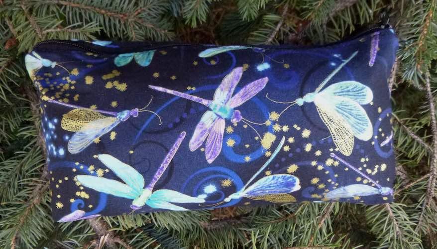 Dancing Dragonflies flat bottom bag, The Zini