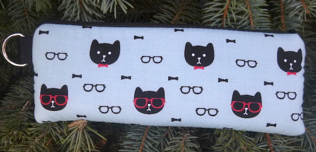 Dapper Cats Padded Zippered Glasses Case, The Spex