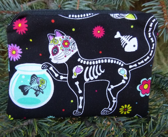 Day of the Dead Cats Coin Purse, The Raven