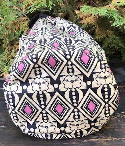 Diamonds drawstring bag, The Large Suebee