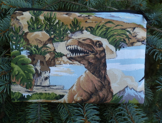 Dinosaur zippered bag, The Scooter