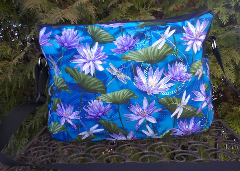 Dragonflies and Water Lilies Large Tilly Shoulder Bag