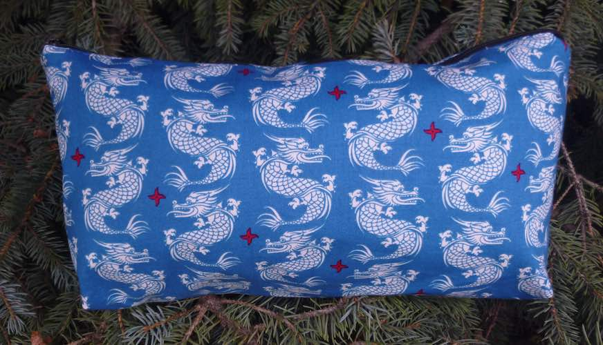 Dragons on Blue Large Zini Flat Bottom Bag