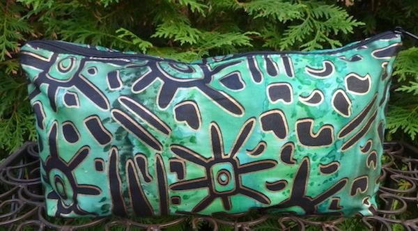 Ethnic Batik Large Zini Flat Bottom Bag