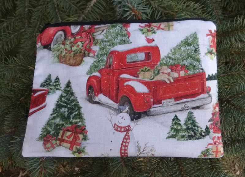 Evergreen Tree Farm zippered bag, The Scooter