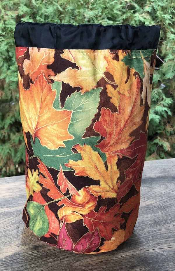 Falling Leaves SueBee Round Drawstring Bag - CLEARANCE