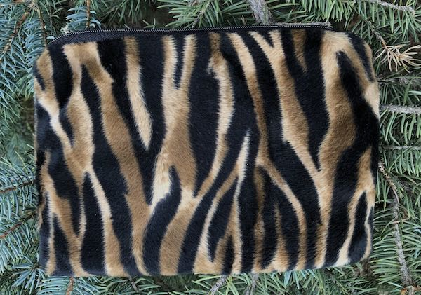 Tiger Faux Fur zippered bag, The Scooter