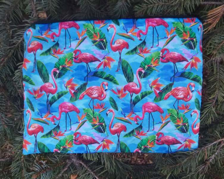 Flamingos Mahjongg card and coin purse, The Slide