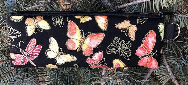 Fluttering Padded Zippered Glasses Case, The Spex