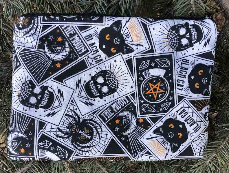 Fortune Teller's Cards zippered bag, The Scooter -CLEARANCE