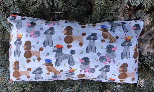 French Poodles Large Zini Flat Bottom Bag
