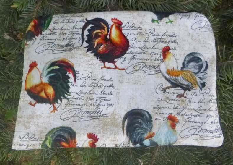 French Roosters zippered bag, The Scooter