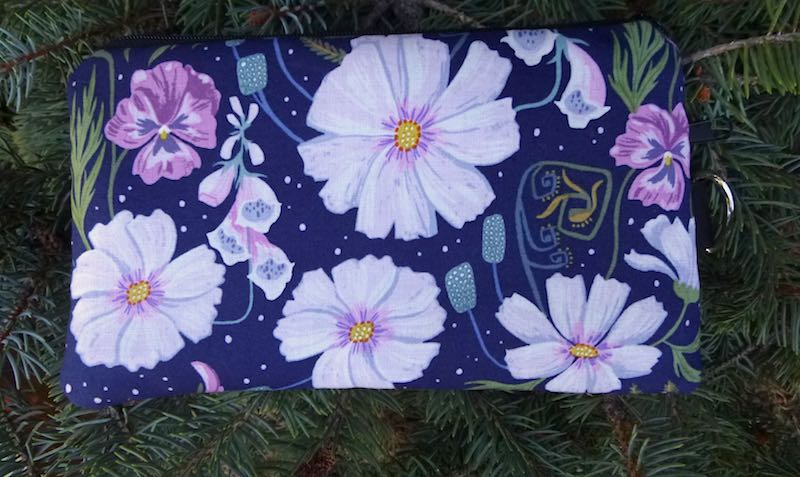Ghost Flowers Mini Wallet Purse Organizer, iPhone wallet, The Sweet Pea