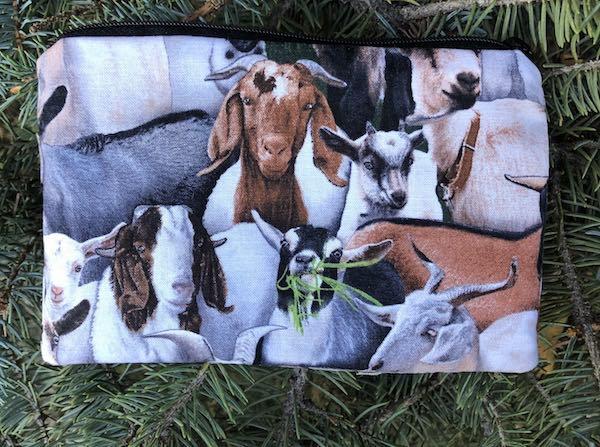 Goats Goldie zippered bag