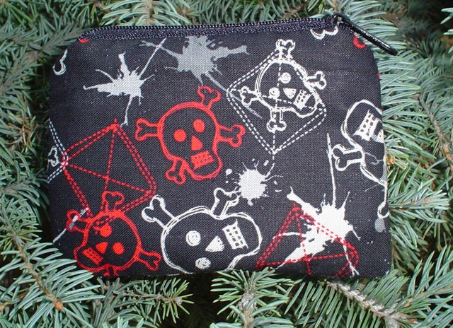 Graffiti Skulls Coin Purse, The Raven