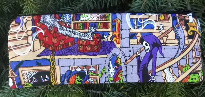 Grim Reaper's House pen and pencil case, crochet hook pouch, The Scribe