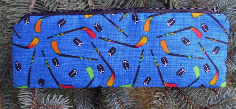 Border collie pencil case pen and pencil case crochet hook pouch zippered pencil case The Scribe