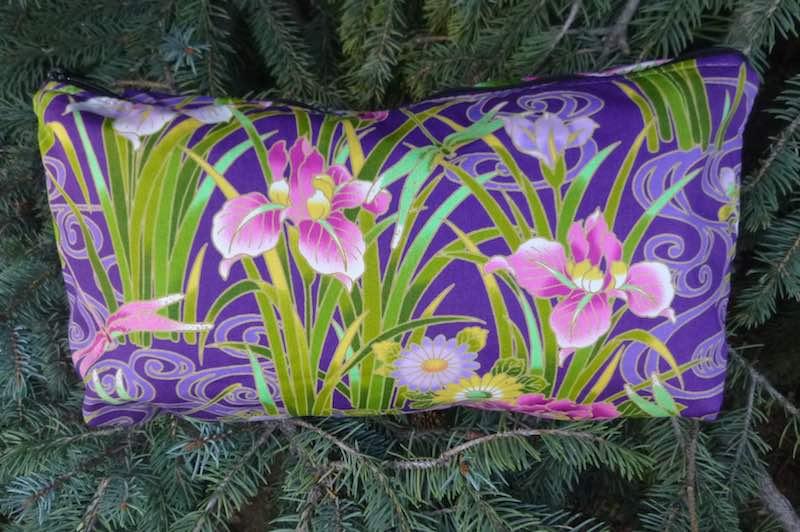 Japanese Iris Large Zini Flat Bottom Bag