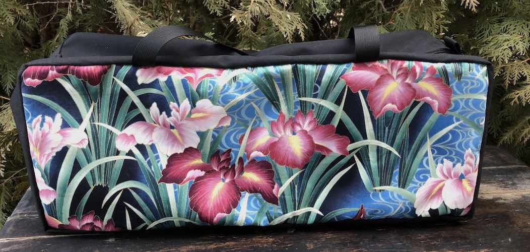 Japanese Iris Mahjongg Storage Set The Zippered Tote-ster and Large Zini