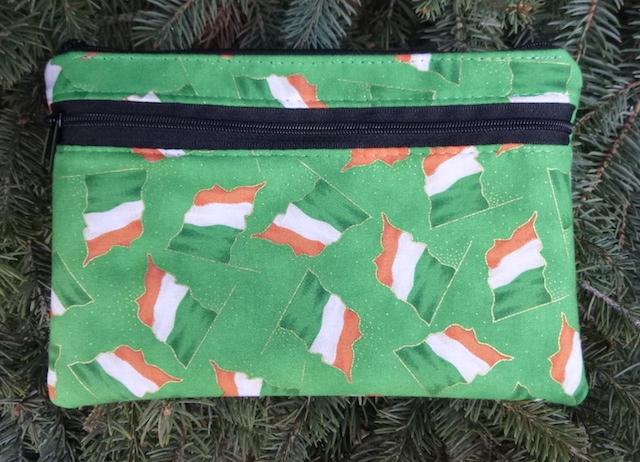 Irish Flags clutch, smart phone wallet, mini shoulder bag,  iPhone 8 Plus wallet, The Wisteria