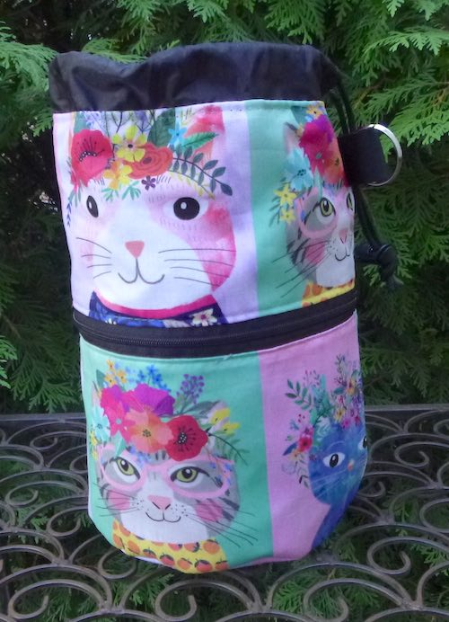 Kitty Squares Kipster Knitting Project Bag