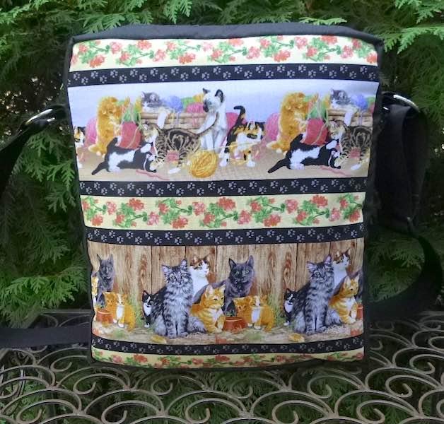 Kitty Stripe Fox Deluxe Shoulder Bag