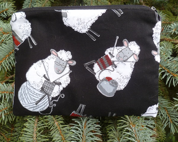 Knitting Sheep zippered bag, The Scooter