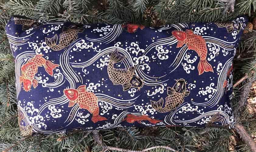 Koi on Indigo Large Zini Flat Bottom Bag