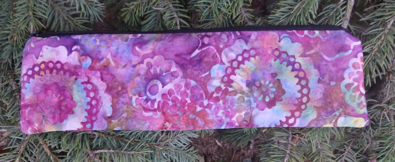 Lacy Flowers Batik case to carry paper or reusable straws, The Strawz