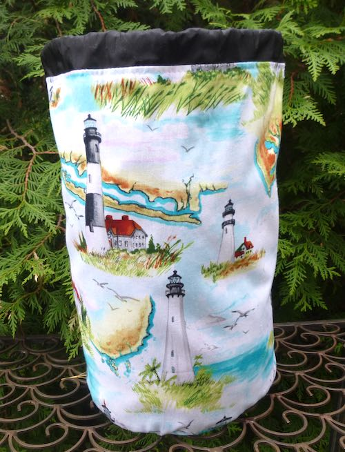 Lighthouses drawstring bag, The Large Suebee