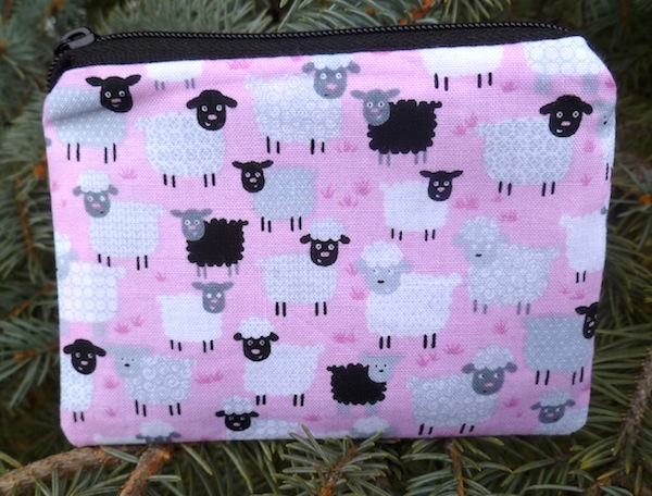 Little Sheep on Blue or Pink Coin Purse, The Raven