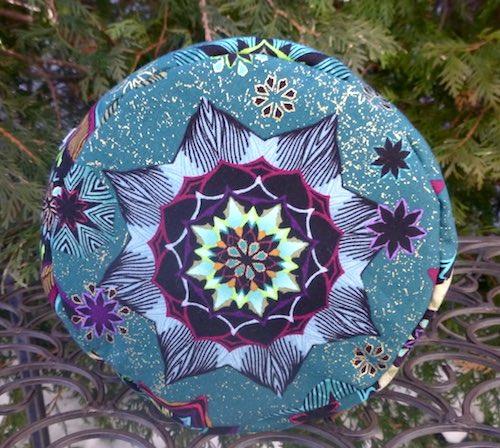 Mandala Tiles Kipster Knitting Project Bag