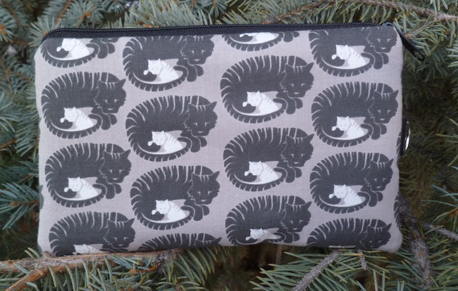 Momma Tabby Mini Wallet Purse Organizer, The Sweet Pea - CLEARANCE