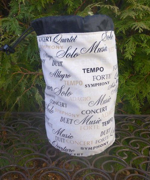 Musical Terms SueBee Round Drawstring Bag