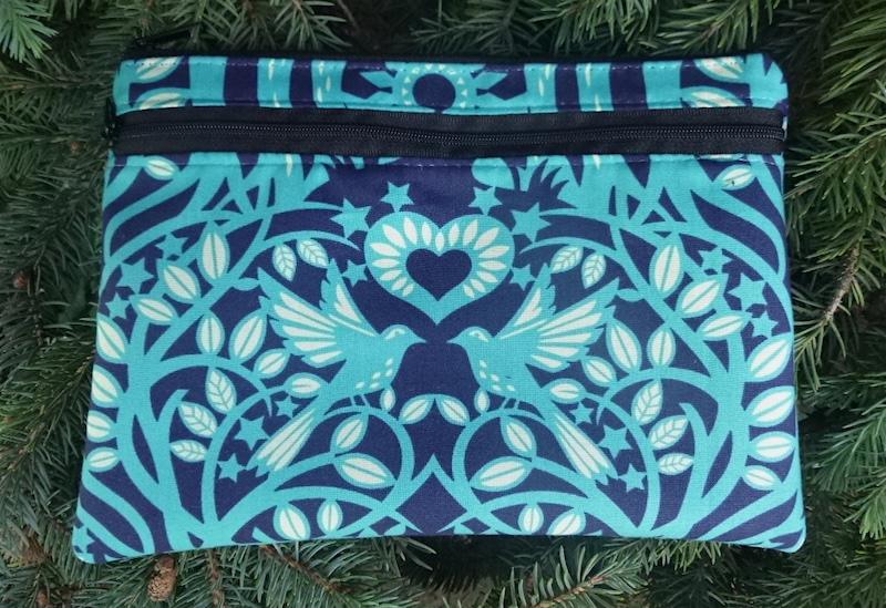 Norwegian Wood Morning Glory convertible clutch wristlet or shoulder bag