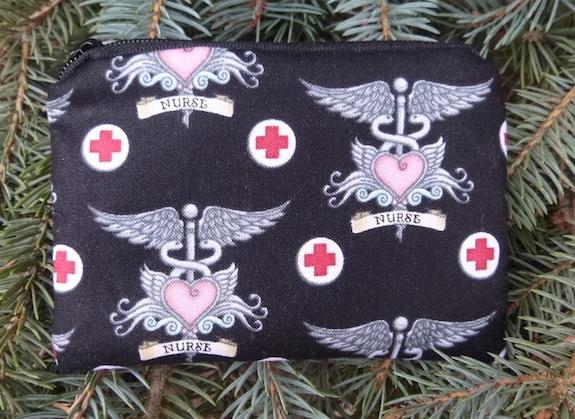 Nurses Coin Purse, The Raven, Pick Your Color