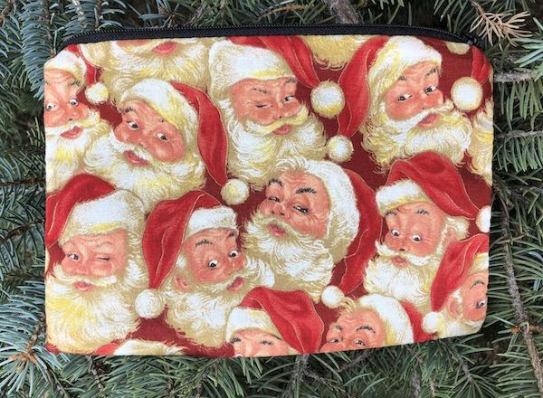Old Time Santa zippered bag, The Scooter