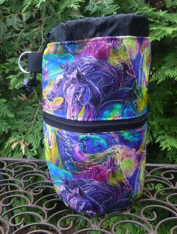 Painted Horses Kipster Knitting Project Bag