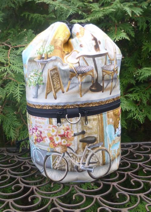 Parisian Cafe knitting project bag, large Kipster