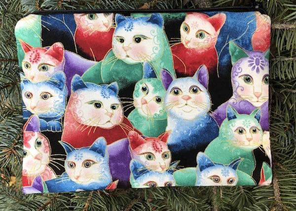 Peeping Kitties zippered bag, The Scooter