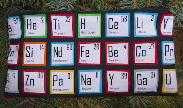 Periodic Table Deep Scribe pen and pencil case