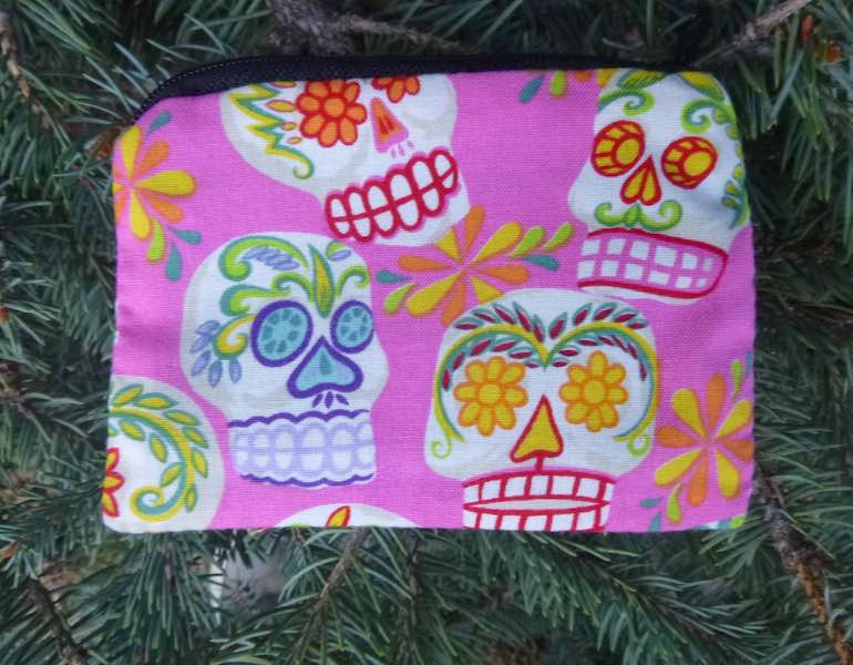 Pink Sugar Skulls Coin Purse, The Raven